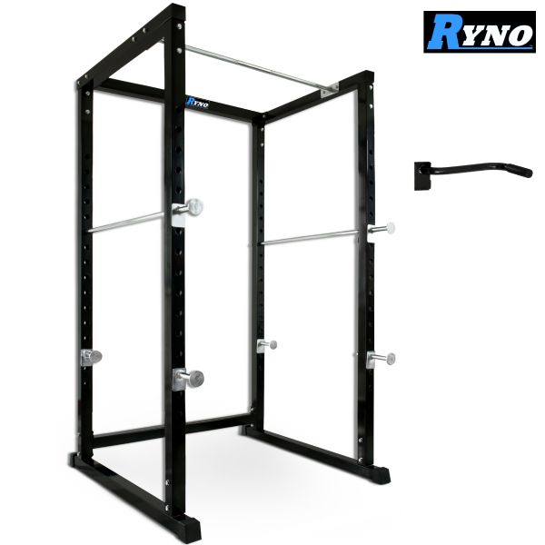 Ryno™ Extreme Heavy Duty Power Rack - Black / Silver